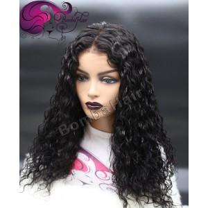 Perücke - schwarz - curly