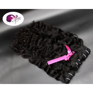 natural curly from India - natural black color:1b - Wefts