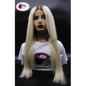 Perücke - Blond dunkler Ansatz