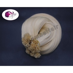 Russisches Echthaar - Platinblond (color: 60) - Keratin Bonding
