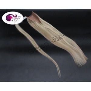 Ponytail 100gr - Strähnen -  aschblond (color: 9C) / platinblond (color: 60)