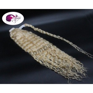 Ponytail 150gr - 60 cm - curly - platinblond (color:60)