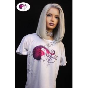 Wig - Bob silver blonde