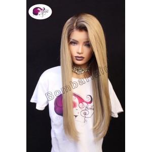 Wig - Ash Blonde with Dark Hairline
