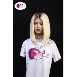 Wig - Bob - Light Blonde with Dark Hairline
