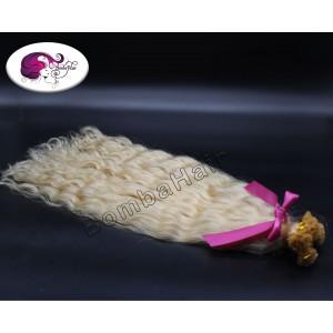 leichte Locken - blond color:60 - Keratinbondings