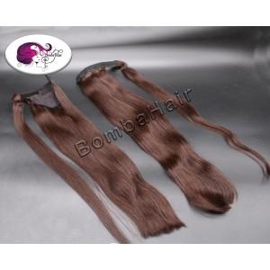 Ponytail schokoladenbraun color: 2