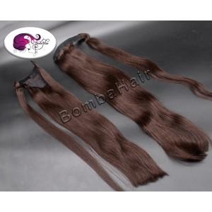 Ponytail dunkelbraun color: 1A