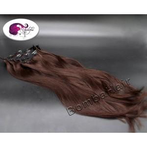 Clip-In - dark brown -...